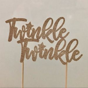 Other - Twinkle Twinkle Baby Shower Cake Topper